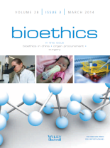 Bioethics cover 2014