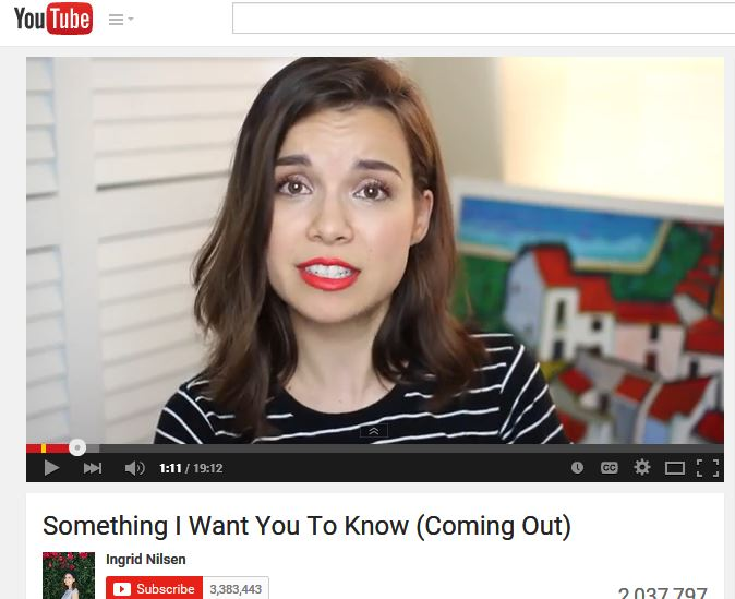 YouTube Beauty Guru Ingrid Nilsen Comes Out in Emotional Video