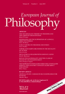 European Journal of Philosophy