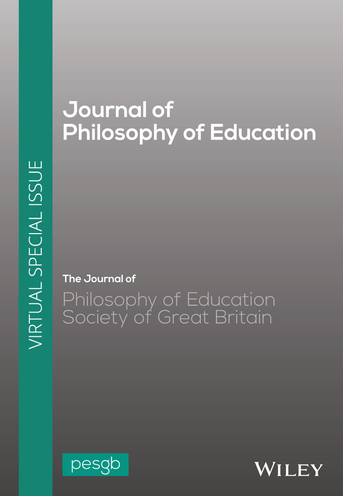 The Journal of Philosophy of Education: Opening theArchive